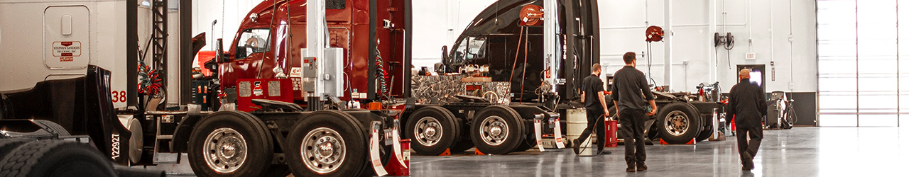 MHC Kenworth Service department truck bays and technicians