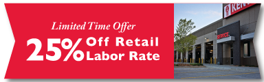 25% off Retail Labor Rate